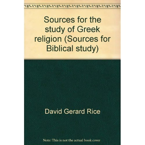 9780891303466: Sources for the study of Greek religion (Sources for Biblical study)