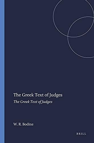 9780891304005: Greek Text of Judges: Recensional Developments (Harvard Semitic Monographs)