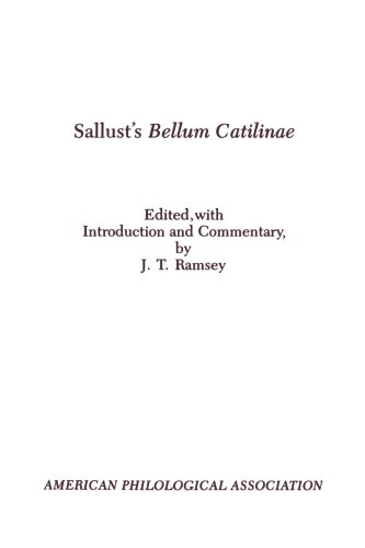 9780891305606: Sallust's Bellum Catilinae (American Philological Association Textbook Series)