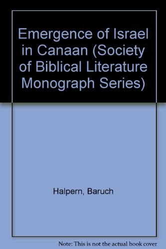 9780891306498: The Emergence of Israel in Canaan (Society of Biblical Literature, Monographic Series, No. 29)