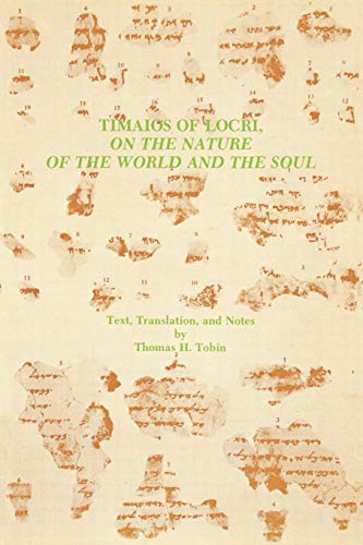 9780891307426: Timaios of Locri: On the Nature of the World and the Soul (Graeco-Roman Religion Series) (English and Ancient Greek Edition)