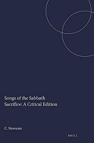 9780891309185: Songs of the Sabbath Sacrifice: A Critical Edition (Harvard Semitic Studies, No. 27)