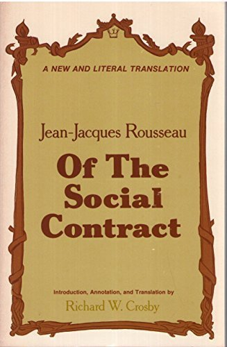 9780891390237: Of the social contract