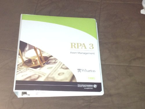 9780891546641: RPA 3: Asset Management Learning Guide (Certified Employee Benefits Specialist (CEBS))