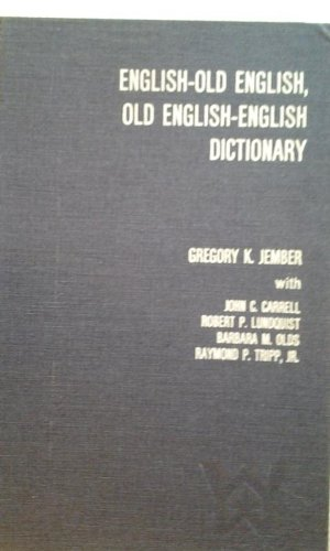 9780891580065: English-Old English, Old English-English Dictionary