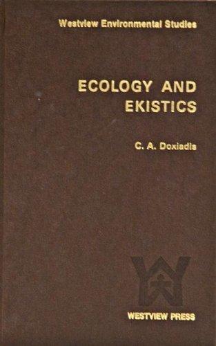 9780891586241: Ecology and ekistics