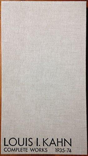 9780891586487: Louis I. Kahn: Complete works, 1935-74