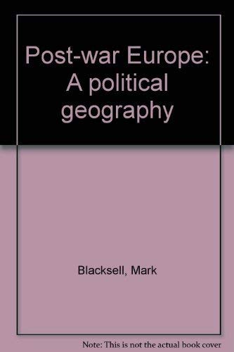 9780891588221: Post-war Europe: A political geography
