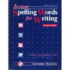 9780891870005: Instant Spelling Words for Writing: Blue Level A, Teacher's Guide