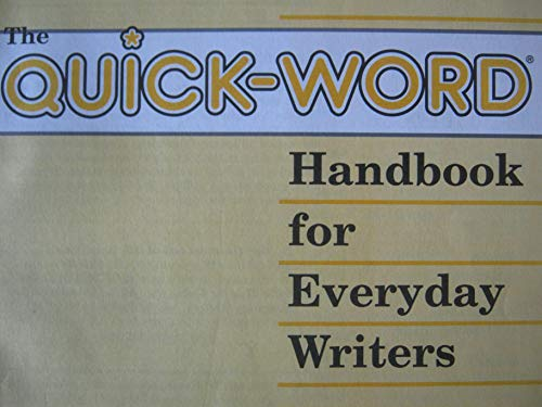 9780891875390: The Quick-Word Handbook for Everyday Writers/Yellow