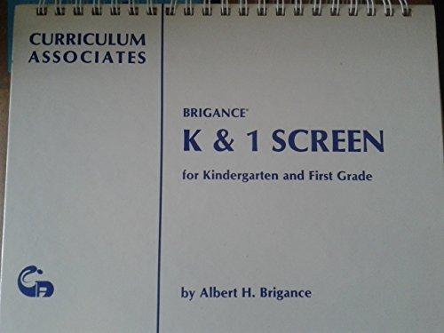 Brigance K & 1 screen for kindergarten: Brigance, Albert H
