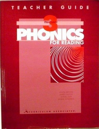 9780891879961: PHONICS for READING - THIRD LEVEL - Teacher's Guide