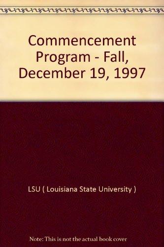 9780891887775: Commencement Program - Fall, December 19, 1997