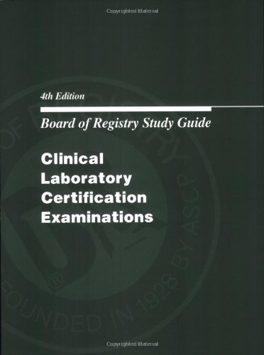9780891894162: Board of Registry Study Guide: Clinical Laboratory Certification Examinations (Book Only)