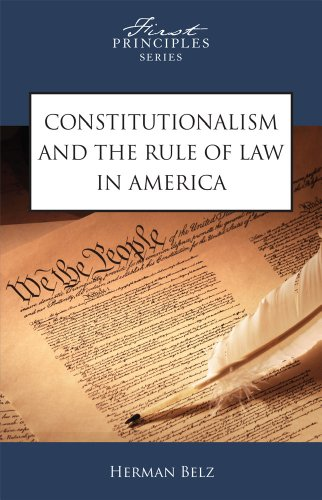 9780891951322: Constitutionalism And The Rule Of Law In America
