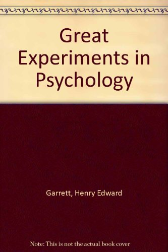 9780891977766: Great Experiments in Psychology