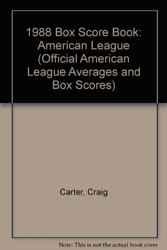 AMERICAN LEAGUE 1988 BOX SCORE BOOK.