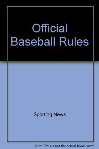 9780892043408: Official Baseball Rules