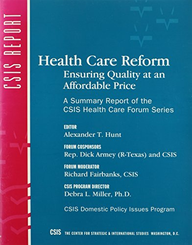 Health Care Reform: Ensuring Quality at an: D. C.) Center
