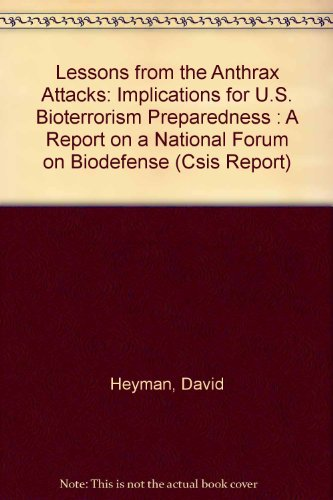 9780892064144: Lessons from the Anthrax Attacks: Implications for U.S. Bioterrorism Preparedness : A Report on a National Forum on Biodefense (Csis Report)