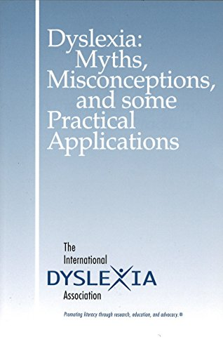 9780892140565: Dyslexia: Myths, Misconceptions, and Some Practical Applications
