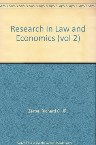 9780892321315: 002: Research in Law and Economics: A Research Annual. Vol 2, 1980. Ed by Richard O. Zerbe, Jr.
