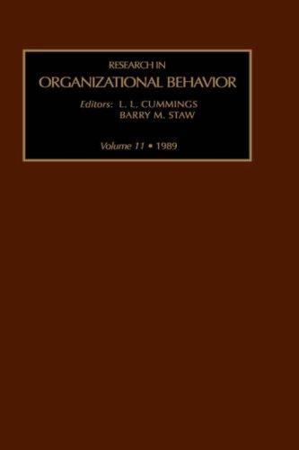 9780892321513: Research in Organizational Behavior