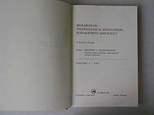 9780892322732: Research on Technological Innovation, Management and Policy: A Research Annual
