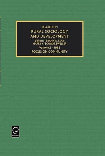 9780892325580: Focus on Community: v. 2 (Research in Rural Sociology and Development)