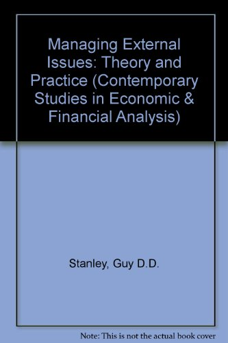 Managing External Issues: Theory and Practice (Contemporary Studies in Economic and Financial ...