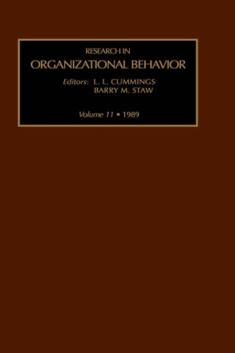 9780892327485: Research in Organizational Behavior: v. 10