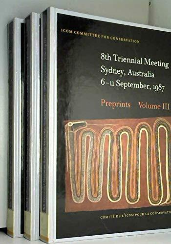 9780892360949: 8th Triennial Meeting, Sydney, Australia, September 1987: Vols 1-3
