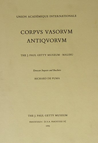 9780892362936: Corpvs Vasorvm Antiqvorvm: The J. Paul Getty Museum, Malibu