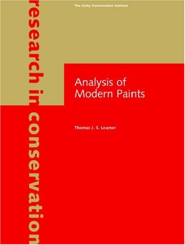 9780892367795: Analysis of Modern Paints (Research in Conservation)