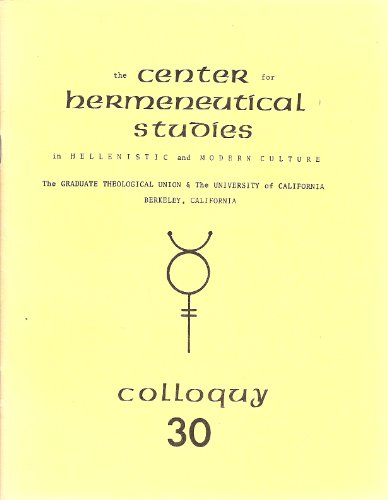 Philo's description of Jewish practices: Protocol of the thirtieth colloquy, 5 June, 1977 (Protocol series of the colloquies of the Center ; 30) (0892420294) by Center for Hermeneutical Studies in Hellenistic and Modern Culture