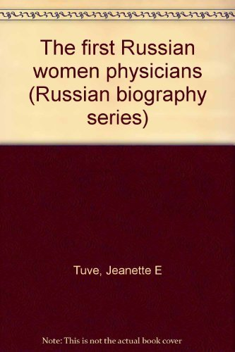 The First Russian Women Physicians