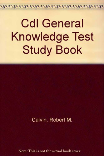 9780892622375: General Knowledge CDL Test Study Book (English) & Audiocassette