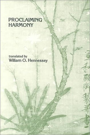 9780892640416: Proclaiming Harmony (Michigan Monographs in Chinese Studies)