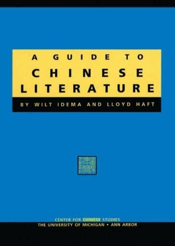 9780892641239: Guide to Chinese Literature