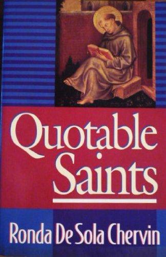 9780892837335: Quotable Saints