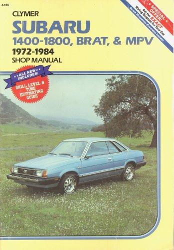 9780892871469: Subaru 1400-1800, Brat, and Mpv 1972-1984 Shop Manual
