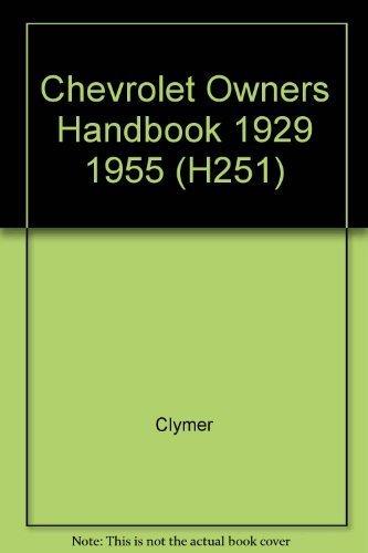 9780892872688: Chevrolet Owners Handbook 1929 1955 (H251)