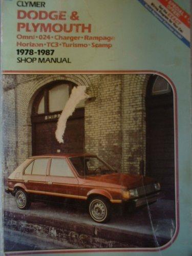 DODGE & PLYMOUTH 1978-1983 SHOP MANUAL: ed. Sydnie Wauson
