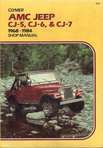 9780892873647: AMC Jeep CJ-5, CJ-6 & CJ-7, 1968-1986 shop manual [Paperback] by Lahue, Kalton C