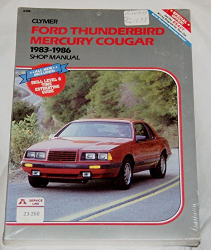 9780892873791: Ford Thunderbird, Mercury Cougar, 1983-1986: Shop manual