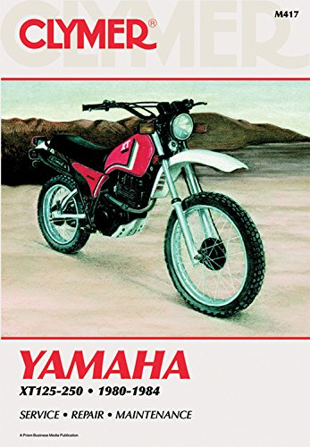 9780892873876: Clymer Yamaha XT125-250 80-84: Service, Repair, Maintenance (Clymer motorcycle repair series)
