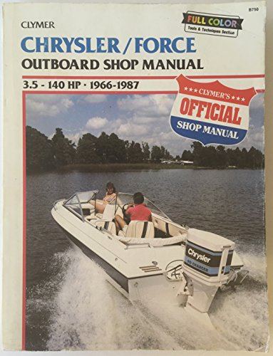 9780892874026: Chrysler/Force Outboard Shop Manual: 3.5-140 Hp, 1966-1988