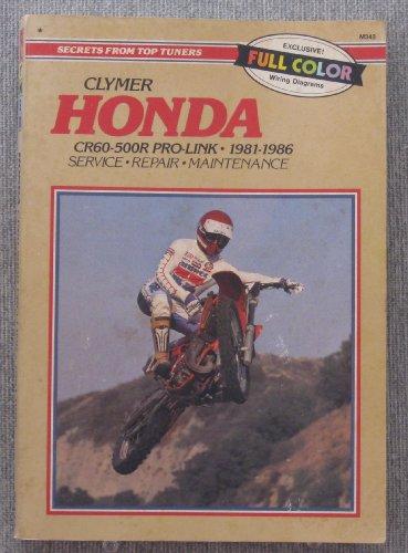 9780892874057: Honda Cr60-500R Pro-Link, 1981-1986