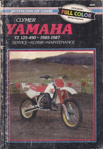 9780892874569: Yamaha YZ125-490, 1985-87: Clymer Workshop Manual