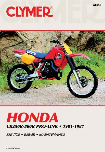 9780892874644: Honda CR250-500R Prolink, 1981-87: Clymer Workshop Manual